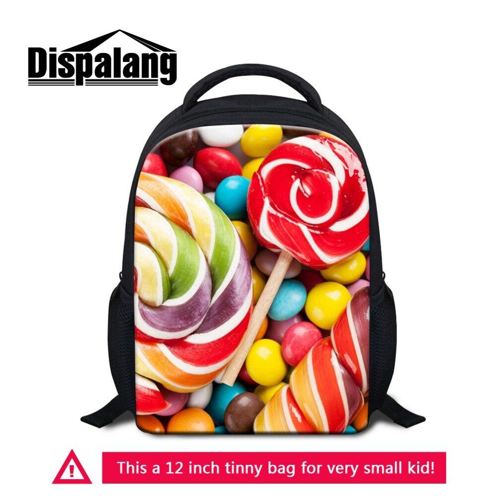 Dispalang Малый Рюкзаки для детского сада для маленьких Обувь для девочек с принтом фруктов Школьные ранцы конфеты оранжевый мини-рюкзак для де...