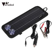 amzdeal 12V 4.5W Portable Smart Solar Power Panel For Car Motorcycle RV Boat  Batteries Bank Charger 320*125*5mm