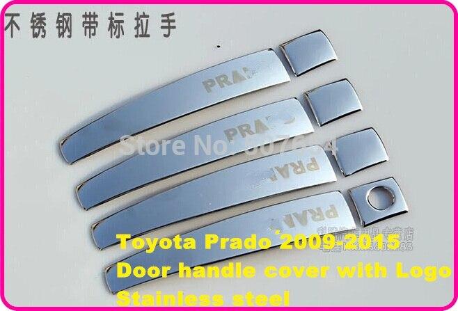 Supérieur étoile en acier inoxydable 8 pièces couvercle de poignée de porte de voiture autocollant de protection pour TOYOTA Land Cruiser Prado 2009-2015