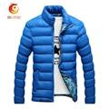 Solid Color Winter Jacket Men Stand Collar Parkas Men Casual Cotton-padded Clothes Warm Parkas Men 2017 New Men's Clothing