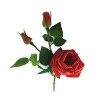 INDIGO-Big Schuim Rood Rose Real Touch Rose Bloem Kunstmatige Bloem Bruiloft Bloem Dahlia Pioen Party Hotel Event Gratis verzending