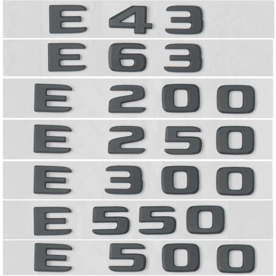Yeni düz W212 W213 amblemi çıkartmalar E63 E200 E250 E300 seti otomatik Para araba harfler gövde arka yıldız rozet logosu mercedes Benz AMG