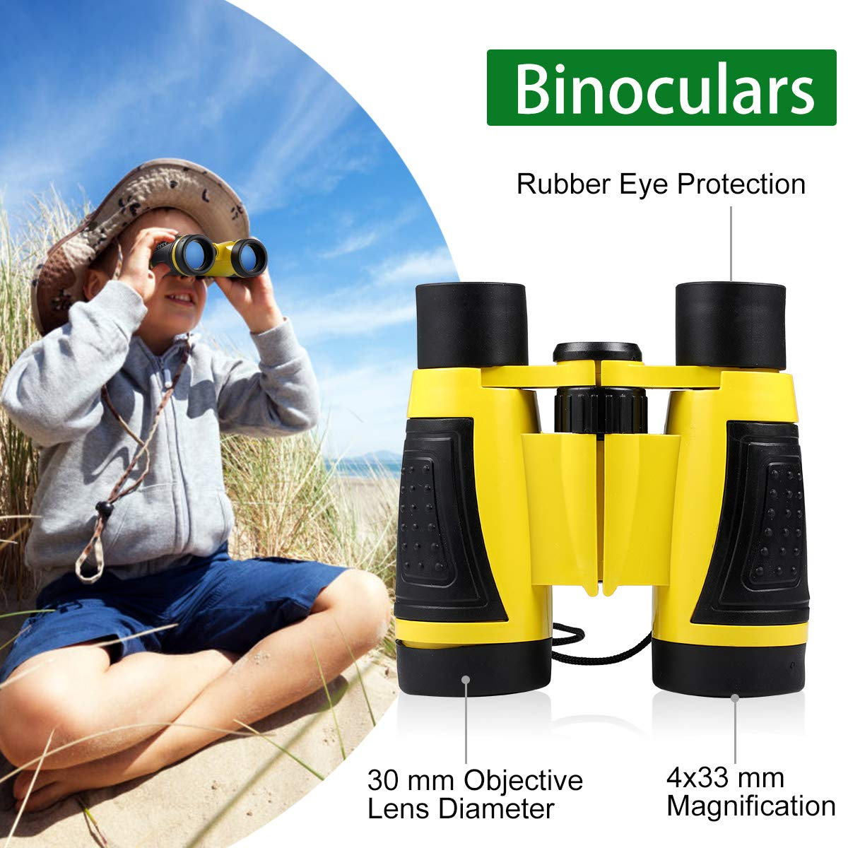 UTTORA 17pcs Kids Binoculars Toy Baby Toys Set Outdoor Exploration Set for Boy and Girl Adventure Kit Children Gift in Toy Sports from Toys Hobbies