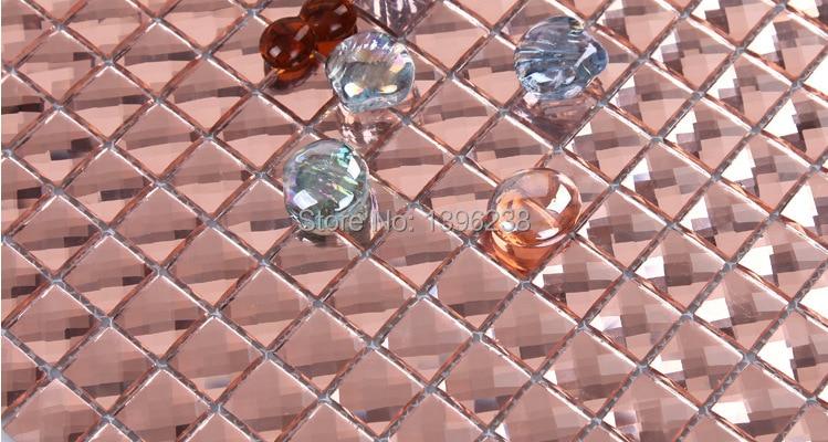 Lovely pink Crystal Diamond Shining Mirror Glass Mosaic Backsplash Tile Bathroom wall,Cabinet Display DIY decor sticker,LSMR1304 мозаика elada mosaic n56 бургундский long size crystal
