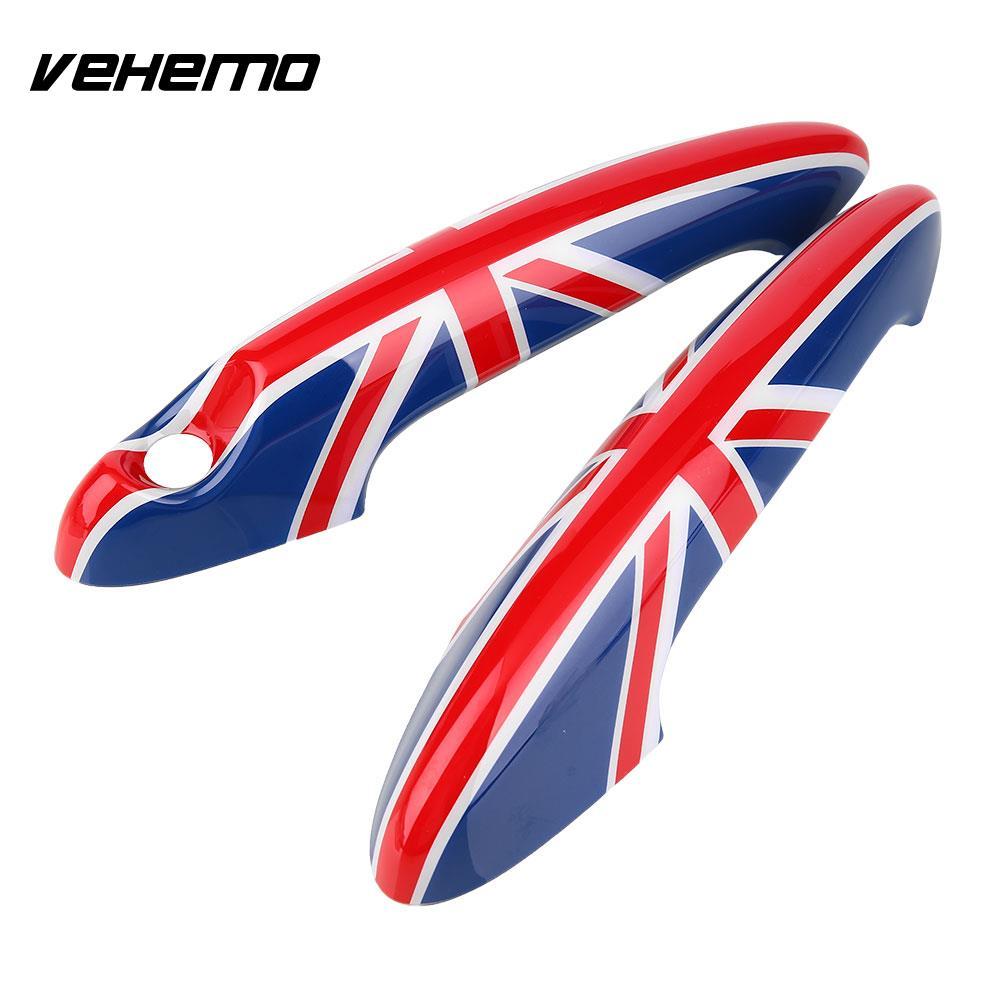 Vehemo 2шт флаг Великобритании авто дверь ручка пластиковая Крышка, пригодный для МИНИОГО Бондаря r56 r55 описание Г60