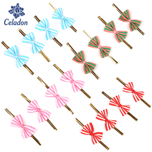 Twist-Tie Sealing-Wire Bakery Cake-Decoration Bowknot Stripe 20pcs Pattern 4-Colors Packing