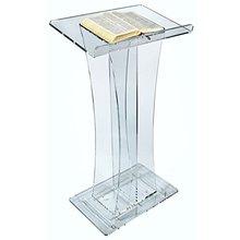 Кристальные элегантные выгнутые, акриловые лектерны или оргстекла, кафедра для выступлений из оргстекла, украшение стола, мебель из оргстекла