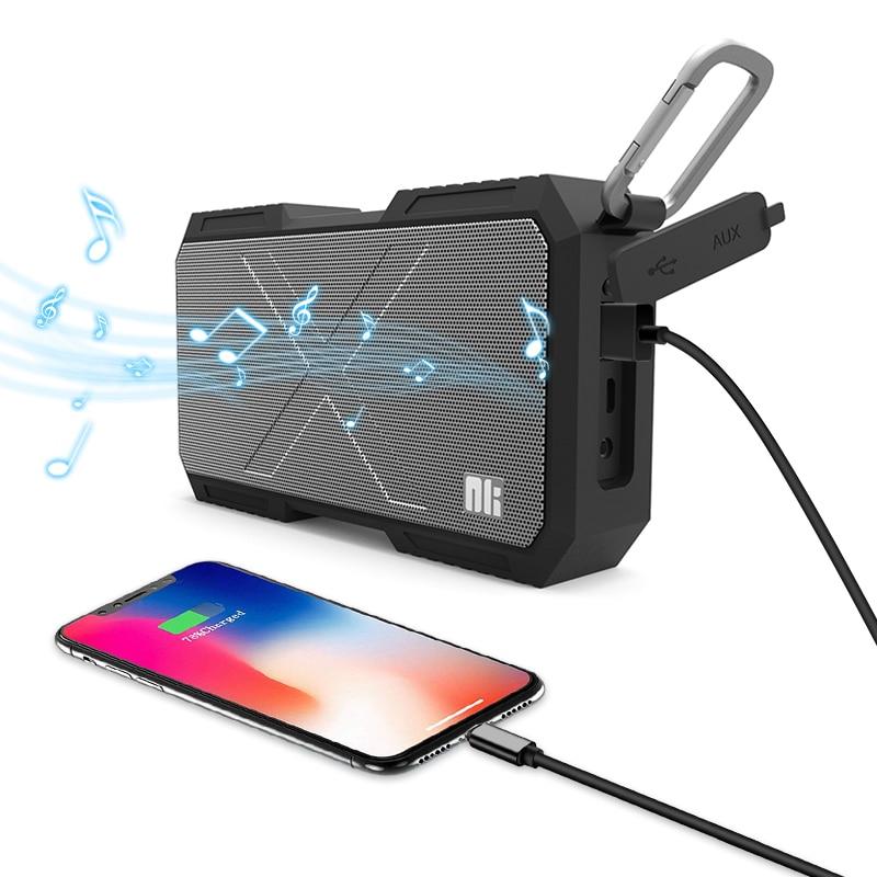 Nillkin caixa de som bluetooth portátil, alto falante, sem fio, portátil, à prova d' água, alto-falante estéreo, para iphone e xiaomi