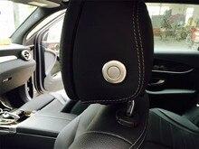 Interruptor de Botón de Ajuste del Asiento de coche Reposacabezas Cubierta Pegatina Ajuste Para Mercedes Benz Clase GLC X253 GLC200 GLC250 GLC300 2016