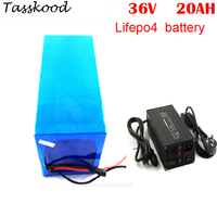 No taxes Lithium ion battery LiFePO4 36V 20Ah 1000W E bicycle lithium battery +5A charger