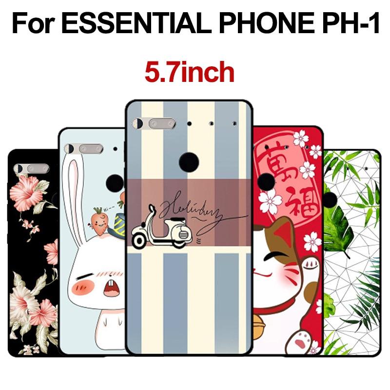 For ESSENTIAL PHONE PH-1 Case cute cartoon soft phone Case For ESSENTIAL PHONE PH1 Cover Protection Shell fundas back cover(China)