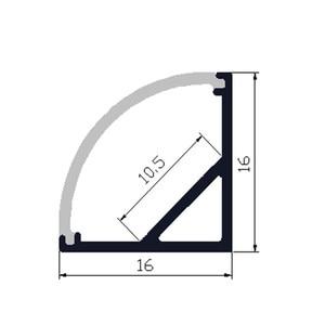 Image 4 - 5 30pcs/lot ,40inch 1m  led aluminium profile for 10mm PCB board led corner channel for 5050 strip led bar light housing