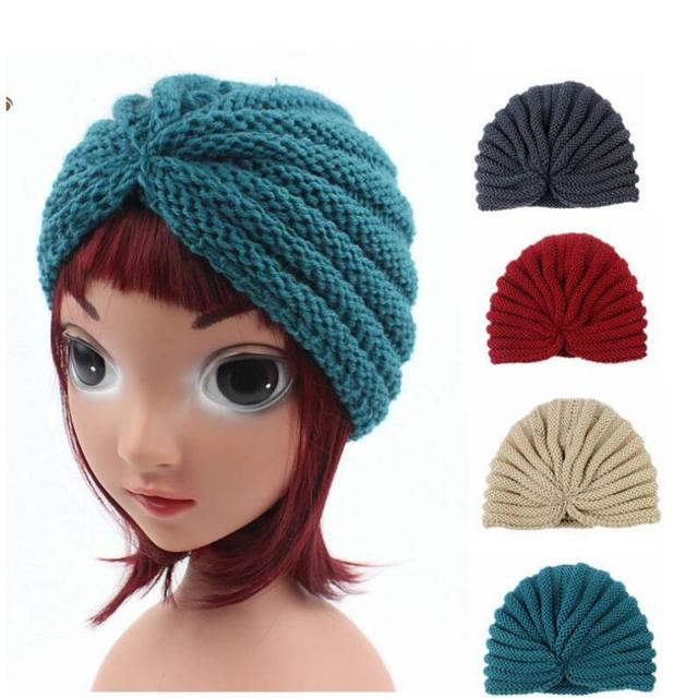 9b265fcbcd3 new arrival children hats caps girls warm hats india dome hats kids winter  beanie turban hats baby knitted caps