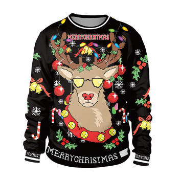 2019 New Ugly Christmas Sweater For gift Santa Elf Funny Pullover Womens Mens Jerseys and Sweaters Tops Autumn Winter Clothing unisex men women ugly christmas sweater vacation santa elf funny christmas sweaters jumper autumn winter tops clothing