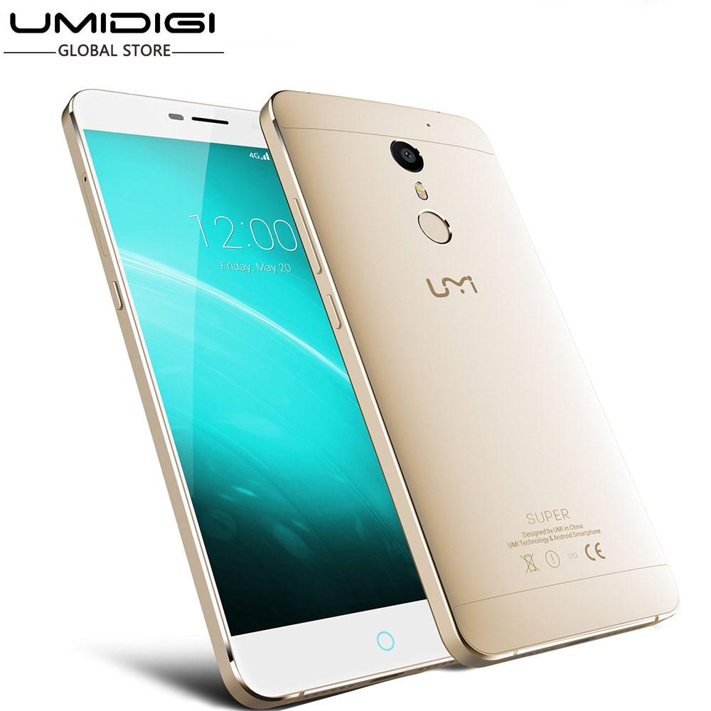 bilder für Umi Super Touch ID Helio P10 MTK6755 2,0 GHz Octa-core 5,5 Zoll FHD Bildschirm 4G RAM 32G ROM 4000 mAh Android 6.0 4G LTE Mobilen telefon