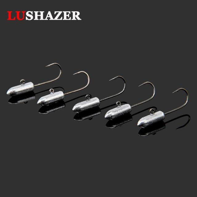 5pcs/lot high quality Lead jig head 0.8g 1.8g 26mm/29mm carp fishing hooks soft lure hooks bait hooks single hook