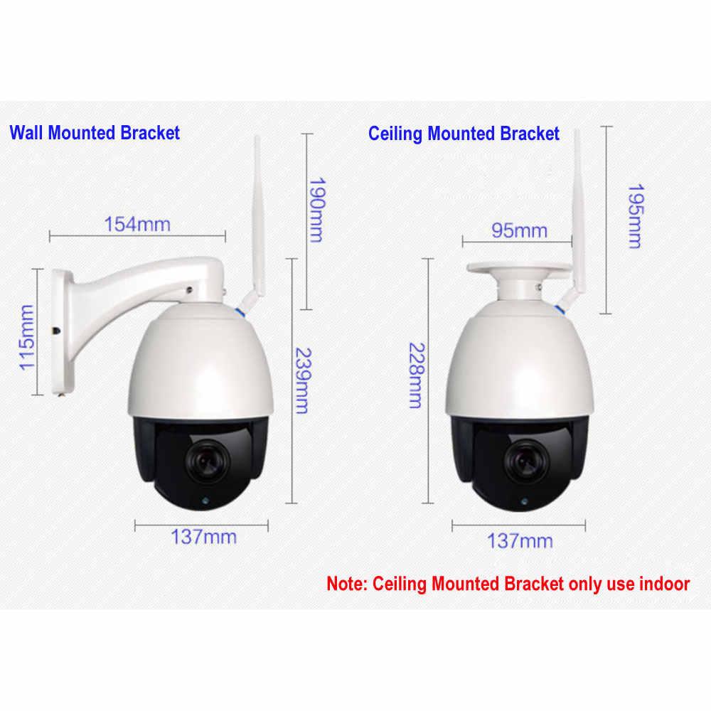 كاميرا لاسلكية 5 ميجابكسل 1080P PTZ مزودة بقبة للسرعة POE كاميرا IP مزودة بخاصية WIFI وتكبير 30 x كاميرا مراقبة أمنية خارجية بميكرفون صوت ONVIF وبطاقة SD