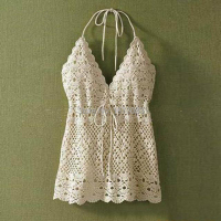 Women Cute Summer Beach Camisole Lace Crop Top Sexy Deep V Neck Spaghetti Strap Tank Tops