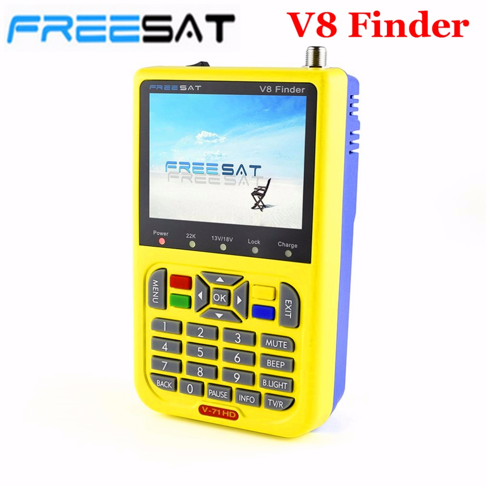 FREESAT V8 Finder HD Digital Satellite Finder Meter DVB-S2 FTA LNB Signal Pointer Satellite TV Receiver Tool with 3.5'' LCD satlink ws 6906 dvb s fta digital satellite signal meter satellite finder supports diseqc 1 0 1 2 qpsk