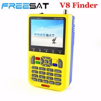 FREESAT V8 Finder HD Digital Satellite Finder Meter DVB-S2 FTA LNB Signal Puntatore Ricevitore TV Satellitare Strumento con 3.5 ''LCD