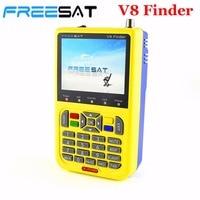V8 FREESAT Wyszukiwarka LNB FTA DVB-S2 HD Digital Satellite Finder Miernik Sygnału Wskaźnik Odbiornika TELEWIZJI Satelitarnej Narzędzie z 3.5 ''LCD