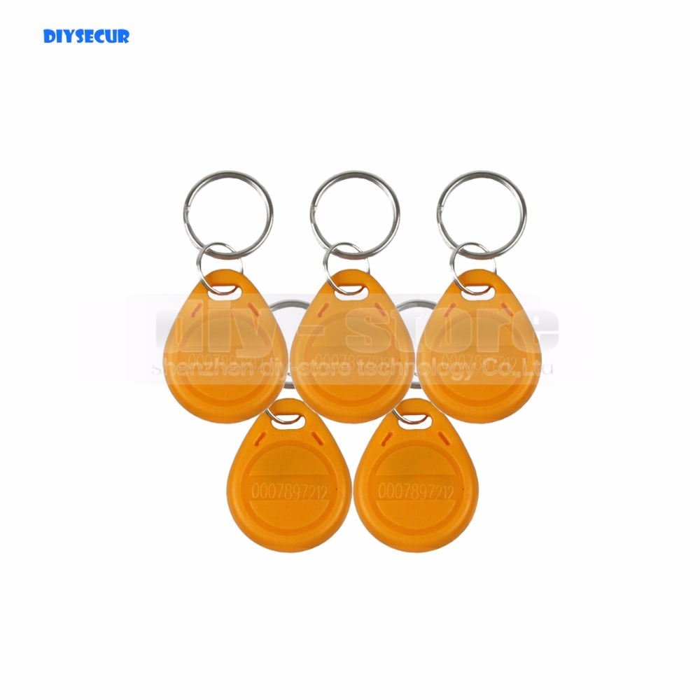 DIYSECUR 50pcs/lot For Access Control / Door Lock Use 125Khz RFID Tag Proximity ID Keyfob Key Tag Electronic Key