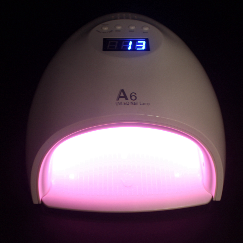 Luce rossa 60 W SOLE A6 UV Lampada Del Chiodo Essiccatore Smalto luce Rapida Essiccazione Unghia e Unghia Del Piede Gel Curing Nail Art Asciugatrice Manicure macchina