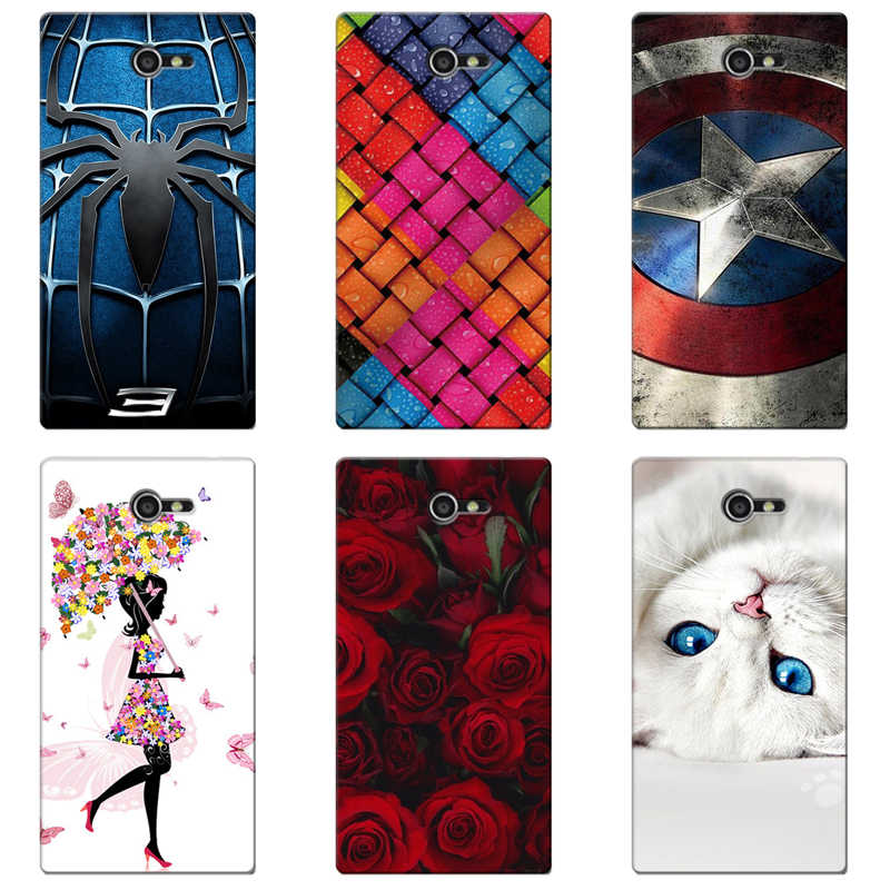 Printing Case Cover for Sony Xperia M2 S50H D2302 D2303 D2305 Colorful Para Soft TPU Back Covers Animal Cell Phone Cases Coque
