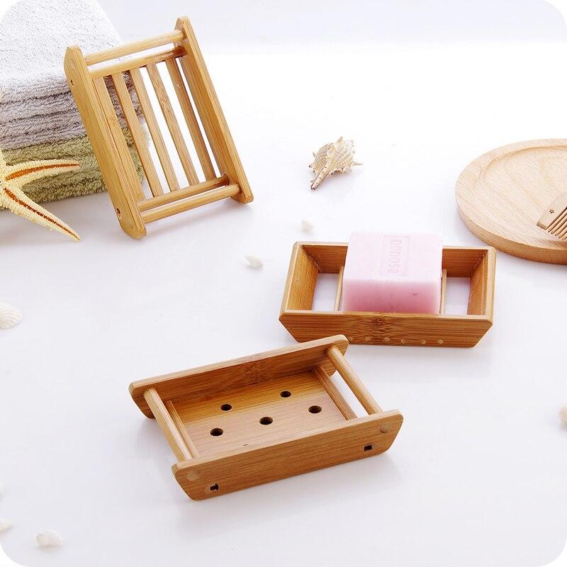 Nieuwe Creatieve Natuurlijke Bamboe hout Zeepbakje Lade houten ...