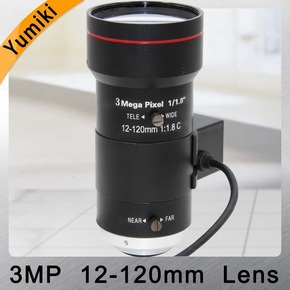 Yumiki 3.0Megapixel Auto Iris Zoom Lens 12 120mm 1/1.8 C Mount Varifocal CCTV Lens for Security IP Camera