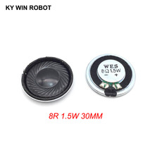 2pcs/lot New Ultra-thin Mini speaker 8 ohms 1.5 watt 1.5W 8R Diameter 30MM 3CM thickness 5MM