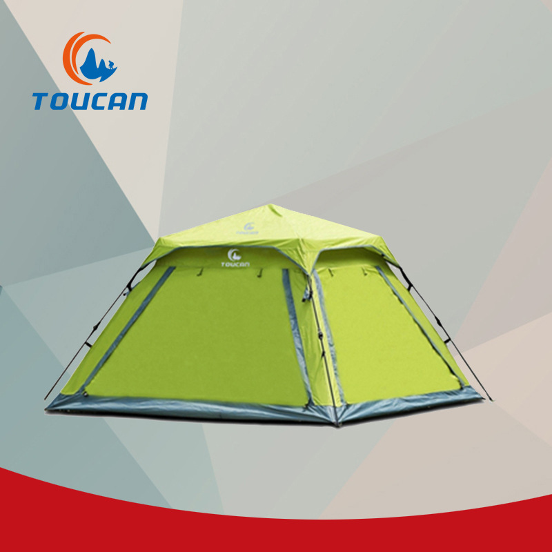 New Anti-UV waterproof doubly layer 3-4person automatic family tents professional outdoor camping tent outdoor camping hiking automatic camping tent 4person double layer family tent sun shelter gazebo beach tent awning tourist tent