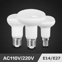 Светодиодная лампа R39 R50 R63 R80 3W 7 ваттов 9 ваттов 12 ваттов E14 E27 база светодиодной лампочкой с регулируемой яркостью Bombillas лампа лампада светодиодные лампы-ампулы светильник AC110V 220V