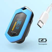 Oxímetro De pulso De Dedo recargable médico BOXYM oxímetro Digital De Dedo SpO2 PR OLED CE Pulsioximetro Monitor De frecuencia cardíaca