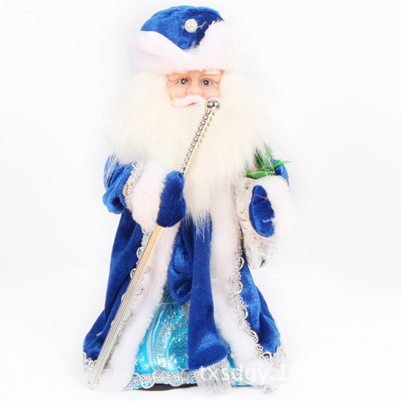 Christmas Santa Claus Sing Russian Songs With Lighting Dancing Decorations Santa Claus Toy Christmas Gift Doll Flannel Toys Xmas