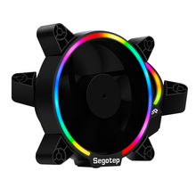 2pcs Segotep Computer PC Case Fan RGB Light 12cm Ultra Silent Cooling Fans Cooler 120mm Quite 120x120x25mm Desktop 3/4pin цена в Москве и Питере