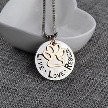 LIVE LOVE RESCUE Pendant Necklace