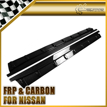 Car-styling For Nissan 2009-2010 R35 GTR Carbon Fiber Arios Style Side Skirt Under Board Glossy Fibre Door Accessories Racing