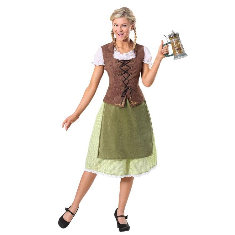 Irek Nouveau Parti Halloween Costume Femmes Allemand Oktoberfest Alpine National Cosplay Costume