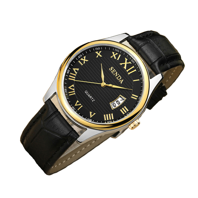 Automatic business Watch Quartz leather wristwatch with quality mens famous waterproof clock vintage relogio masculino ar watch time2u mens formal business ultrathin quartz watch wristwatch with classic design