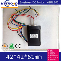 24V 52.5W 42mm Brushless DC Motor Square Brushless dc motor with Hall Low Noise 4000rpm BLDC Motor 42BLS02