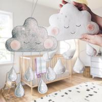 Cute Cloud Raindrop Shape Hangings Decoration For Baby Bed Room Hanging Decor Party Christmas Hanging Ornaments Supplies 3