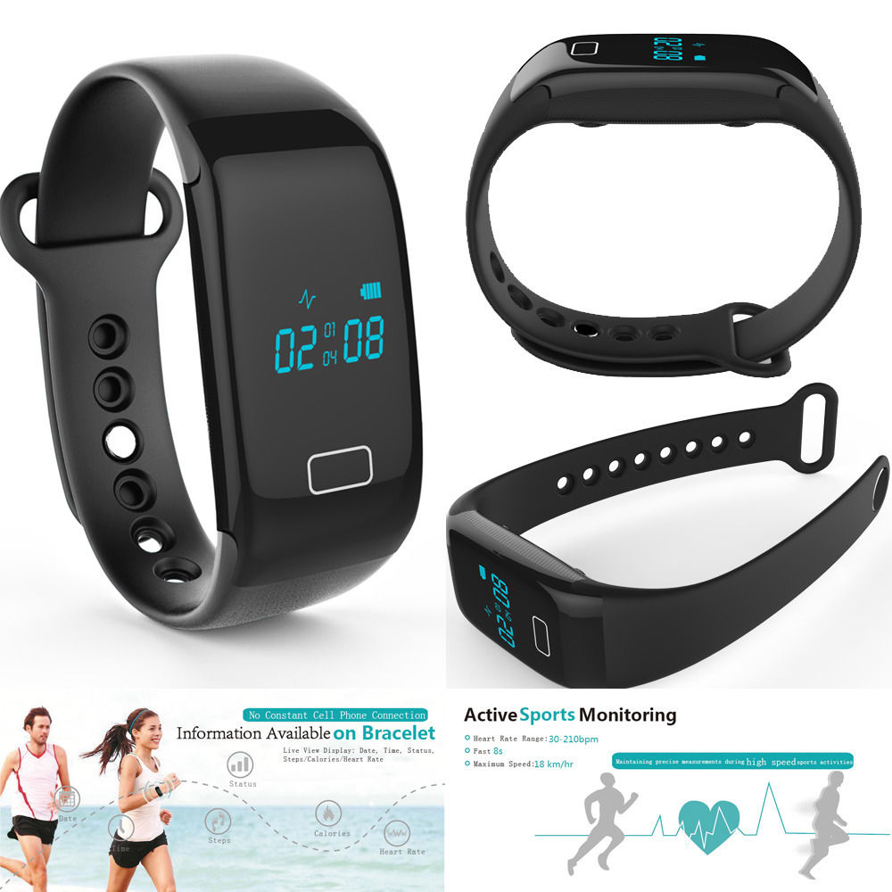 2016 Fitness JW018 Heart Rate Wristband font b Smart b font Band Monitor Charge hr Rate