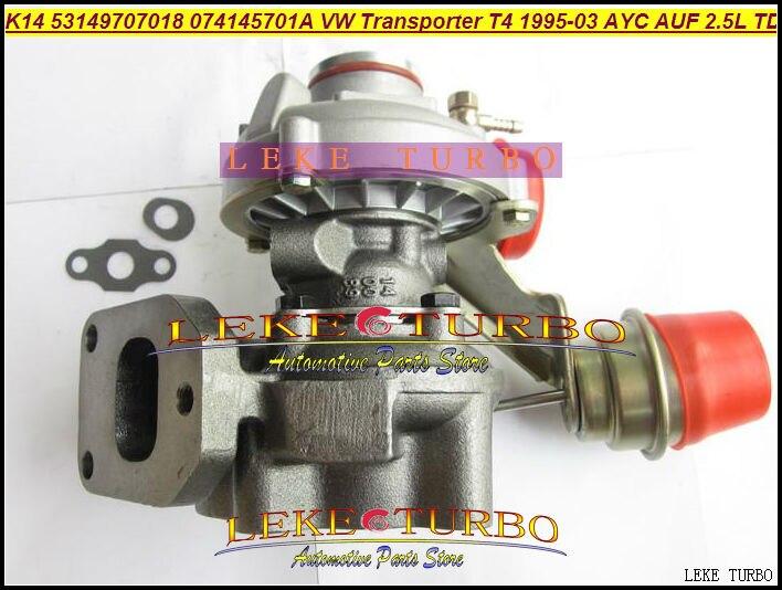 K14 53149707018 53149887018 074145701A Turbo Turbocharger For Volkswagen VW T4 Transporter 95-03 AJT AYY ACV AUF AYC 2.5L 102HP
