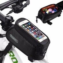 ROSWHEEL4.8 «5,5», PVC велосипедов Сумка Открытый Велоспорт рамы велосипеда мешок Передняя труба сумка велосипед сумки для сотового телефона 4 цвета