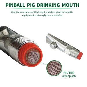 Image 2 - 10pcs אנטי להתיז חזיר אוטומטי מים פטמה שתיין נירוסטה עם מסנן חזיר מים מזין