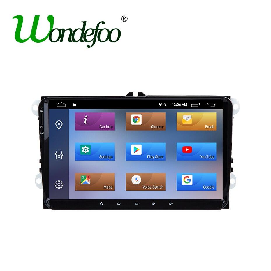 IPS Android 8.1 2G RAM Quad Core 2 din lecteur DVD de voiture pour SEAT Altea Toledo Leon Altea XL Alhambra pour VW PASSAT CC GOLF Octavia