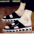 The new 2016 big yards men slippers male summer leisure male han edition a word procrastinates sandals male tide beach sandals