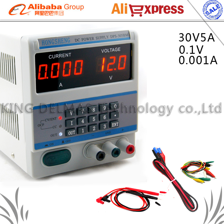 Upgrade DPS-305BM keypad Digital Programmable Adjustable 220V DC Power Supply 30V/5A 0.1V/0.001A for Phone/Laptop Repair dps 305bm dc power supply for laptop mobile phone repairing 30v 5a 0 001a accuracy 4 current display