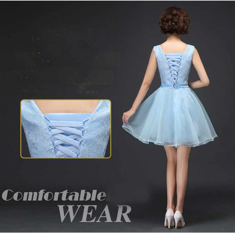 8e30e956b9 ... girls embellished cute puffy short vintage tulle light sky blue dress  party bridesmaid dresses modest cute ...